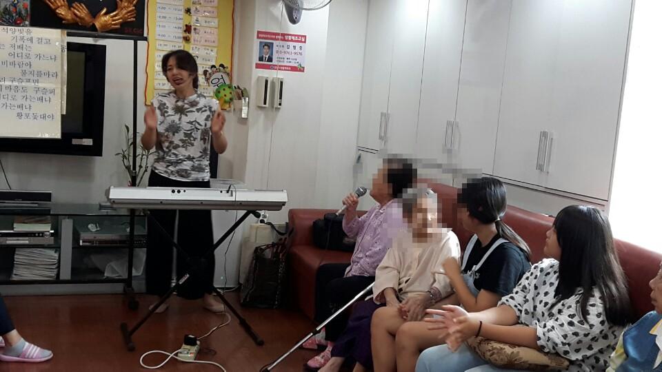새날노인복지센터 주간보호 음악치료, 원예치료 수업
